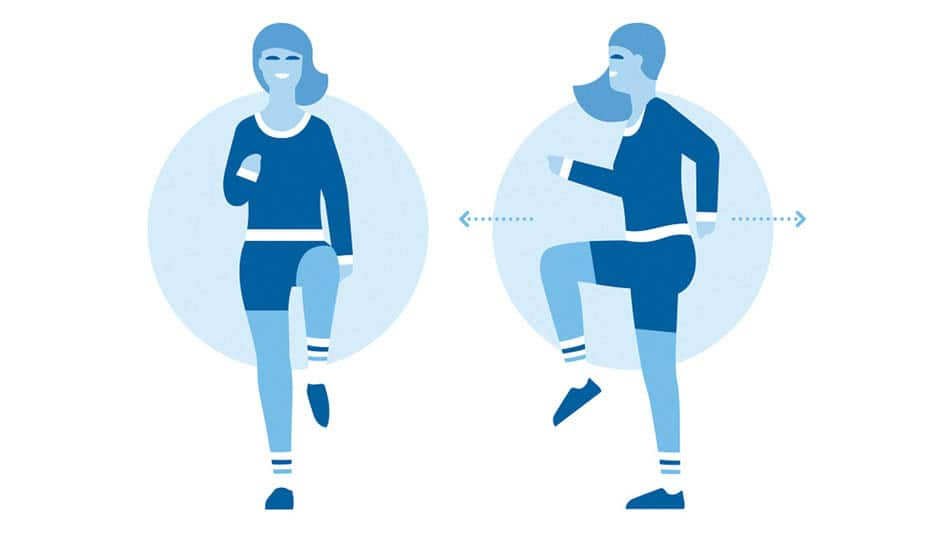 Beating the stress - Two people exercising